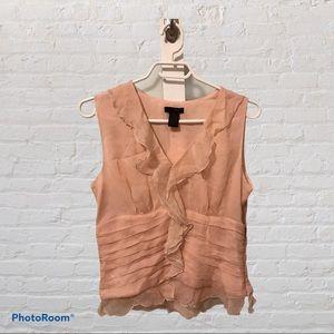 🔥NWT WDNY Pink Silk Blouse